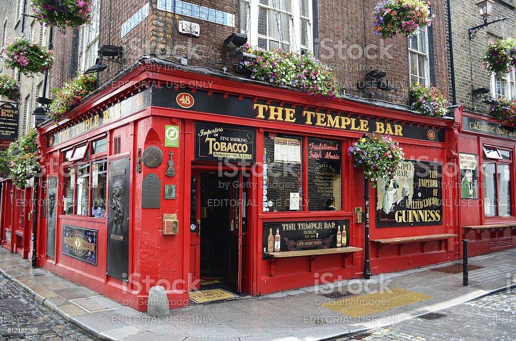 Famous Temple Bar in Dublin stock photo