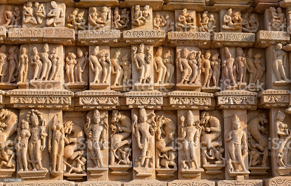 Famous temple in Khajuraho, India stock photo