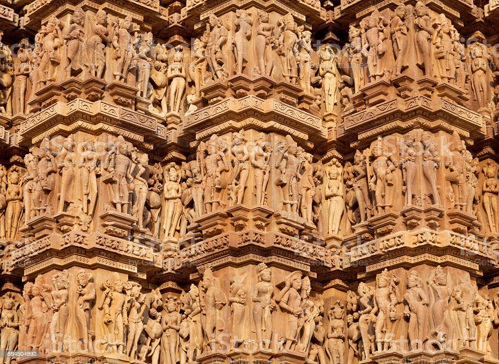 Famous temple in Khajuraho, India stock photo