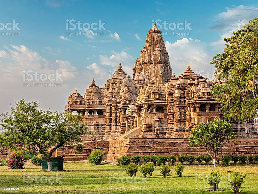Famous temples of Khajuraho stock photo