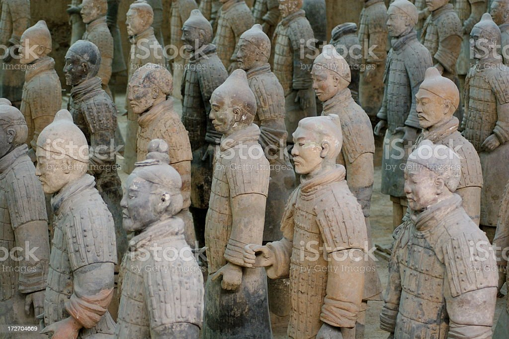 Famous Terra Cotta Warriors of Xian China royalty-free stock photo