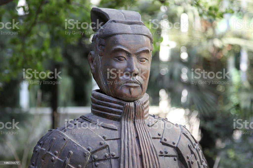 famous terracotta warriors in XiAn, Qin Shi Huang's Tomb, China royalty-free stock photo