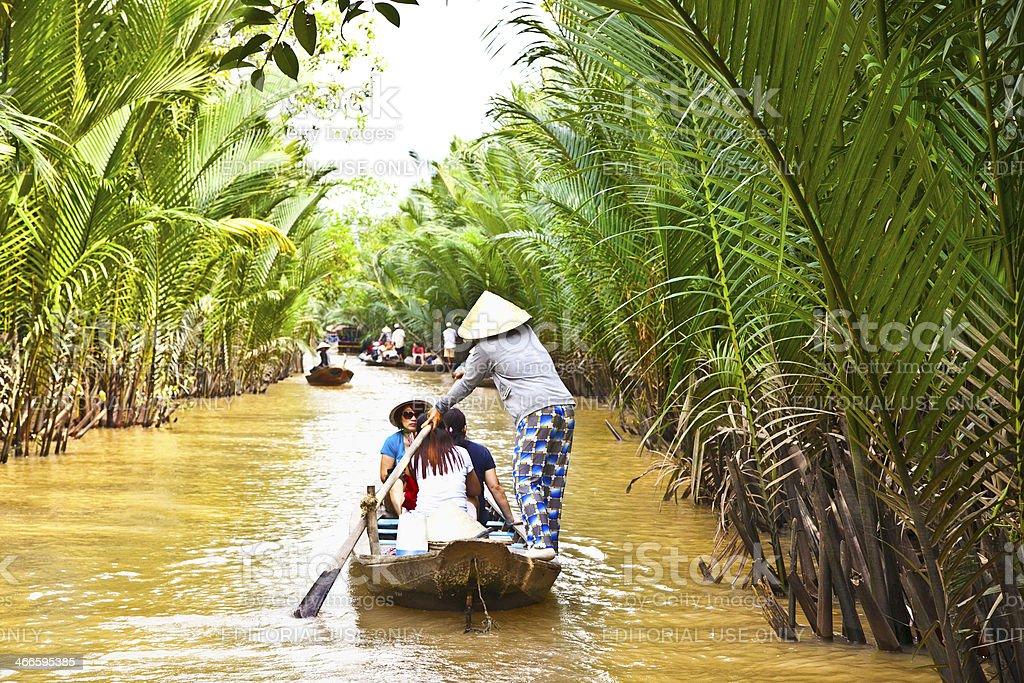 Famous tourist destination in Mekong delta , Vietnam. royalty-free stock photo