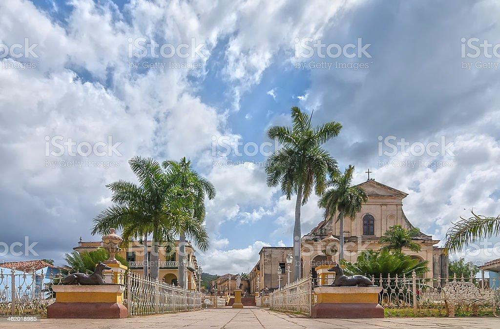Famous touristic landmark Church of the Holy Trinity stock photo