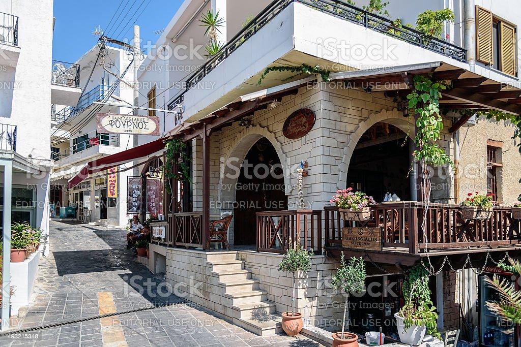 Famous traditiona crtetan bakery in Sfakia town on Crete stock photo