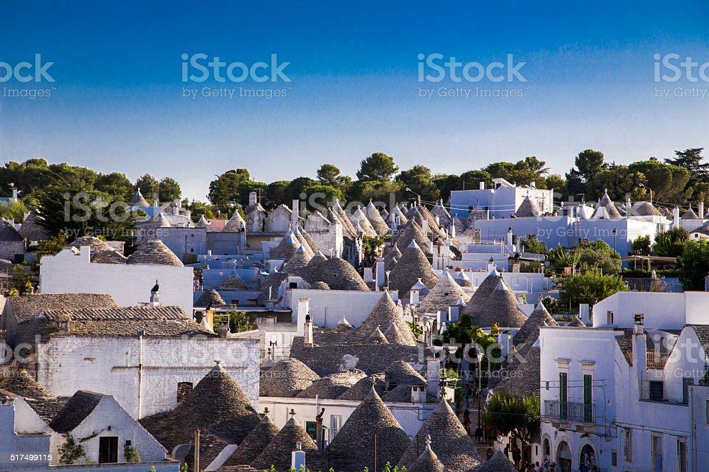 famous Trulli of Alberobello stock photo