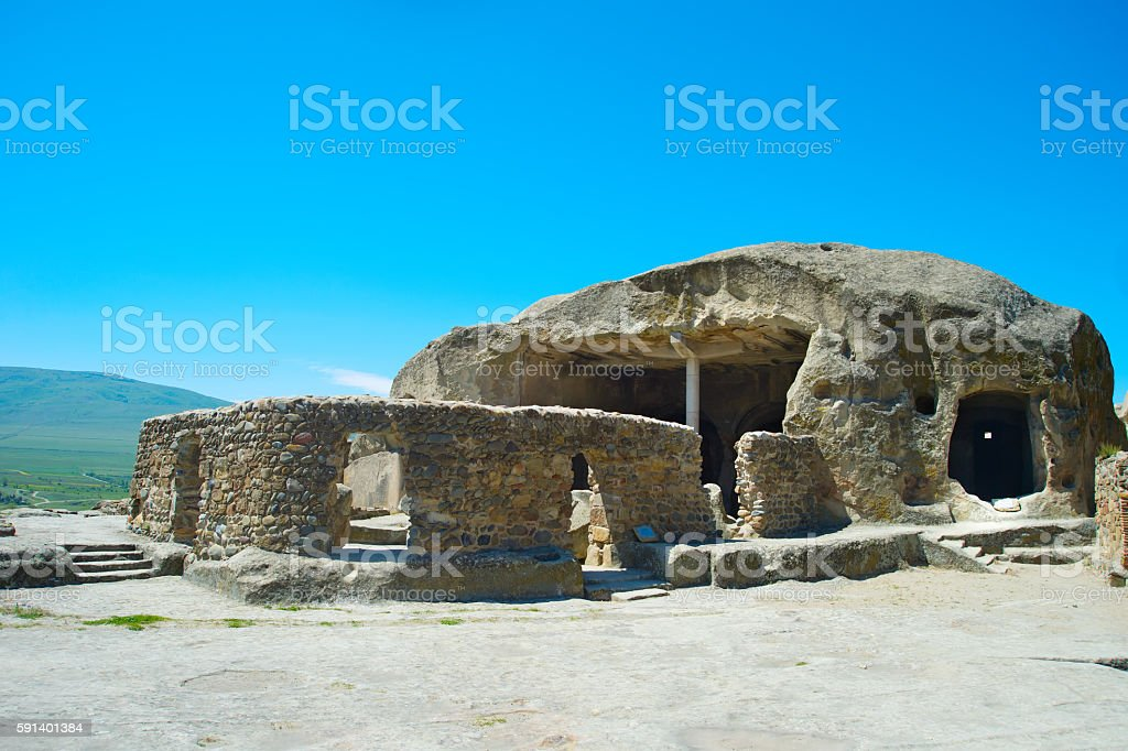 Famous Uplistsikhe cave. Georgian Republic stock photo