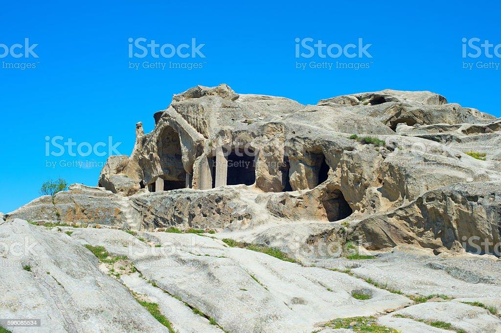Famous Uplistsikhe caves. Georgia stock photo