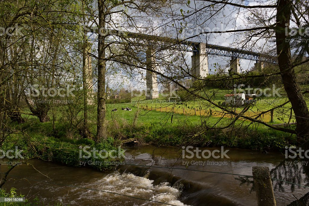 Famous Viaduct of Moresnet stock photo