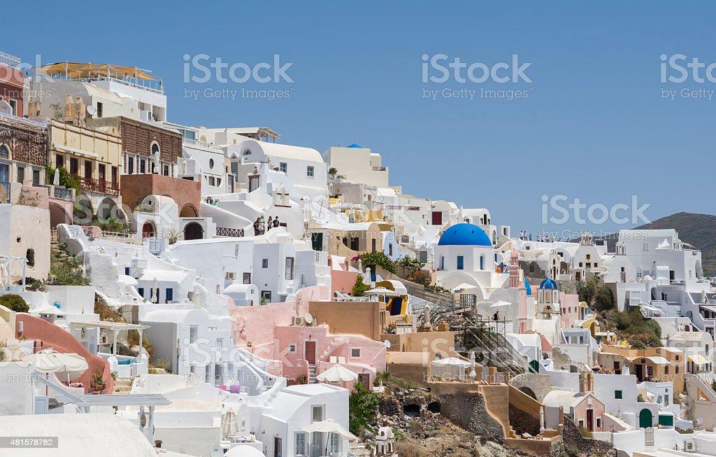 Famous village of Oia in Santorini stock photo