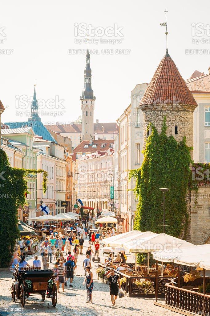 Famous Viru Gate - Part Old Town Architecture Estonian Capital stock photo