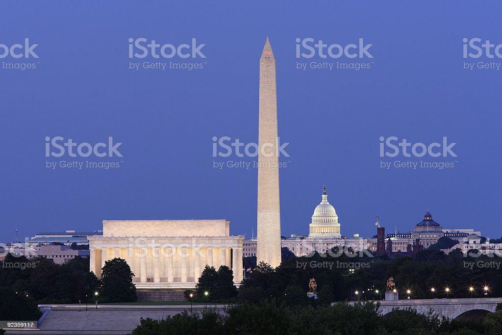 Famous Washington Buildings stock photo