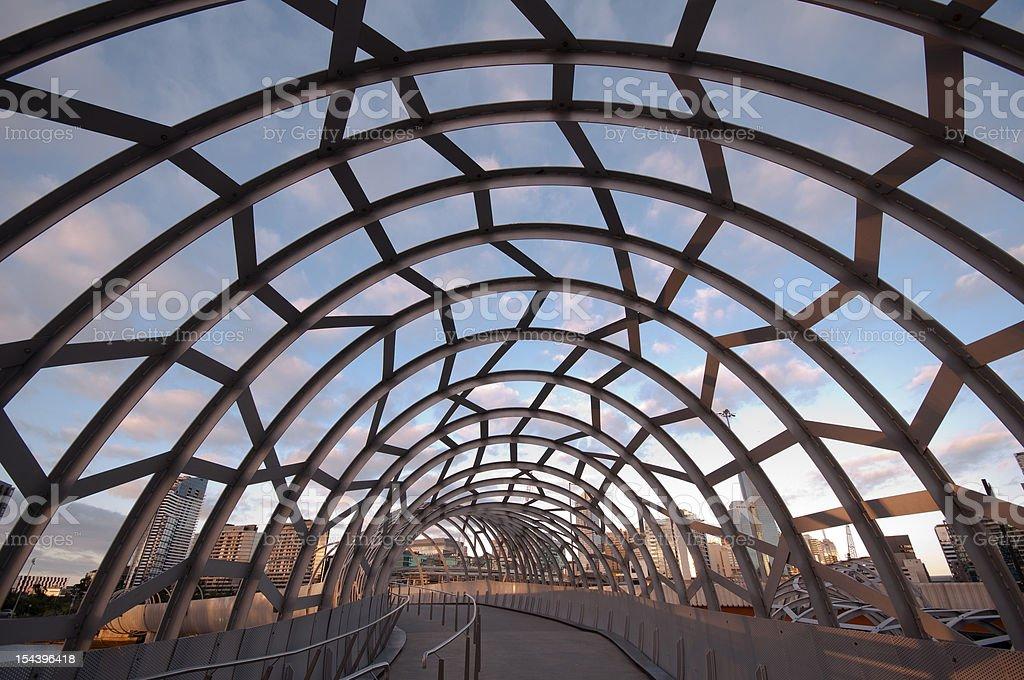 Famous Webb Bridge in Melbourne, Victoria, Australia stock photo