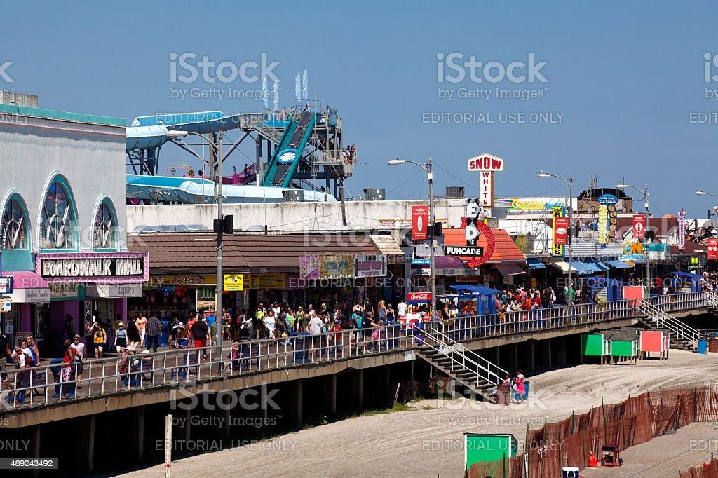 Famous Wildwood Boardwalk stock photo