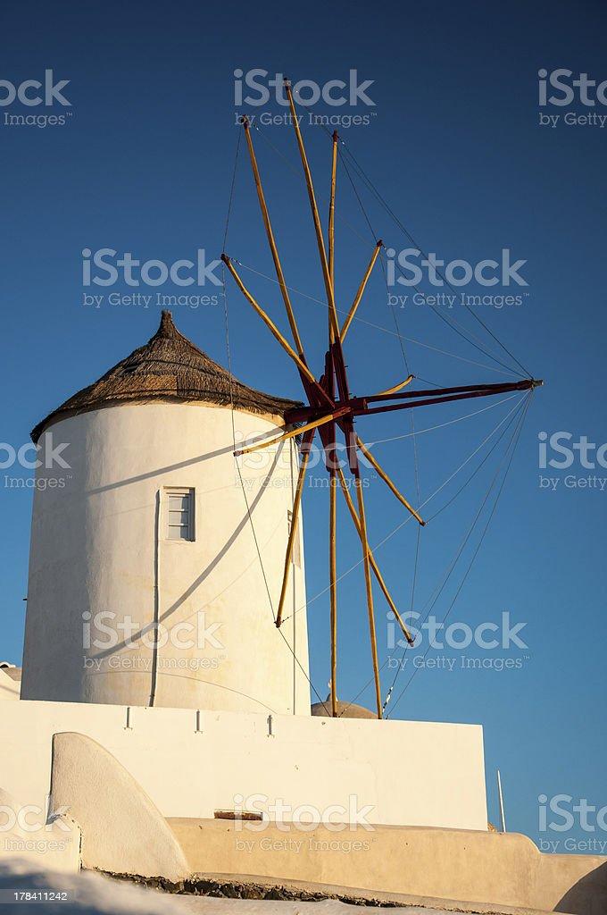 Famous Windmill of Santorini stock photo