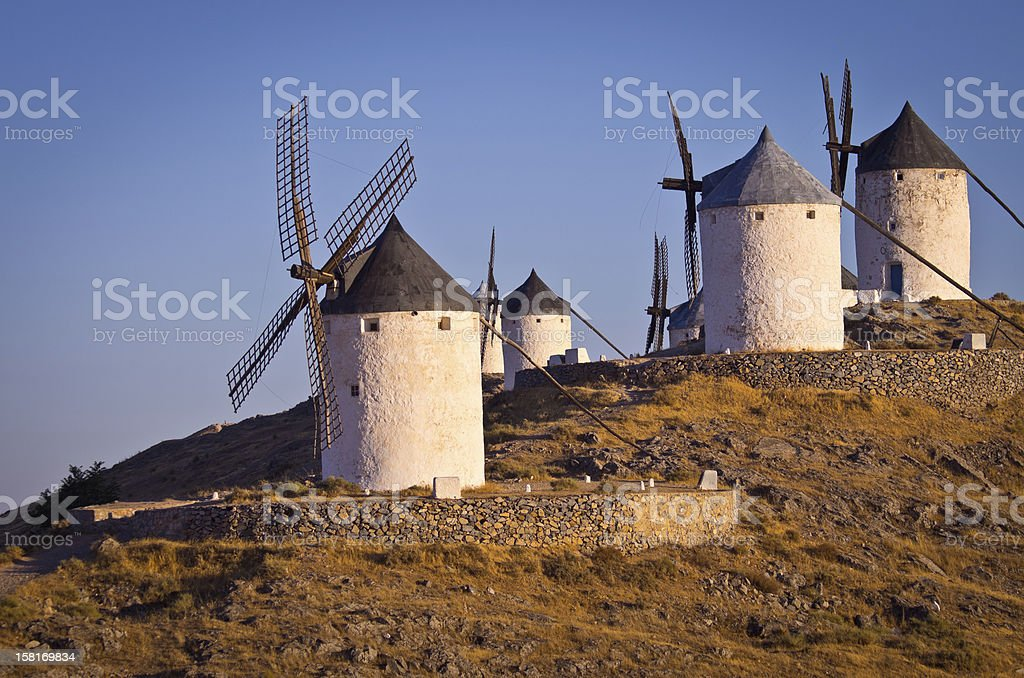 Famous Windmills at Consuegra stock photo