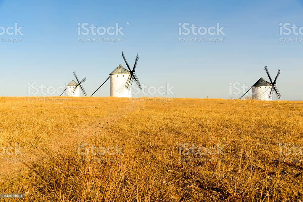 Famous windmills in Spain stock photo
