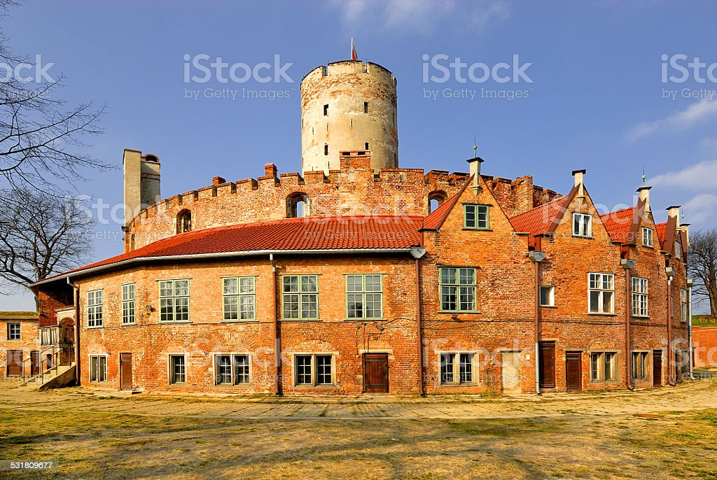 Famous Wisloujscie fortress in Gdansk, Poland outdoor Polish Danzig, Danzing stock photo