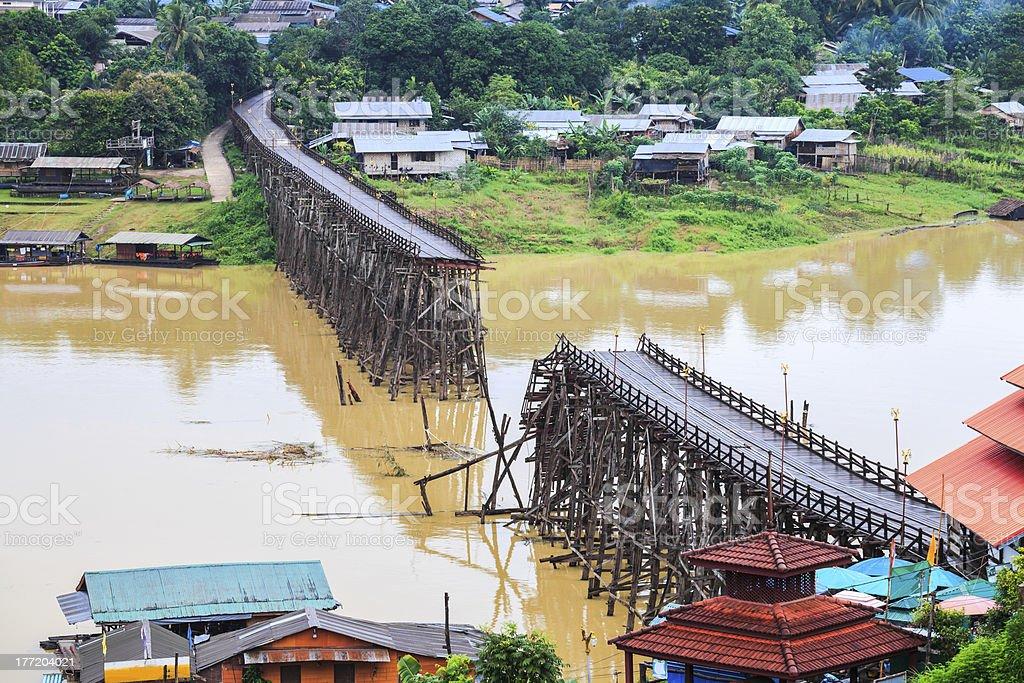Famous wooden mon bridge royalty-free stock photo