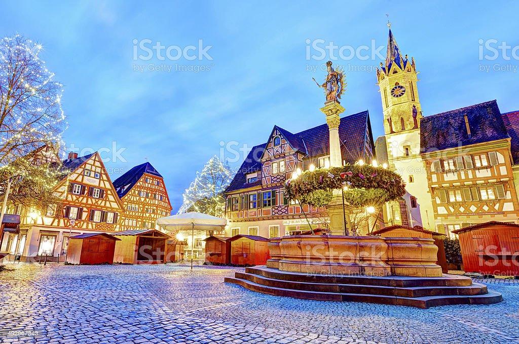 Famous X-Mas Market Ladenburg stock photo
