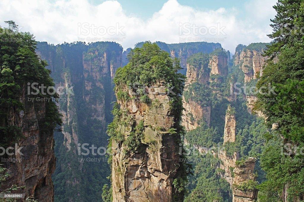 Famous Zhangjiajie National Forest Park in Hunan Province, China. stock photo