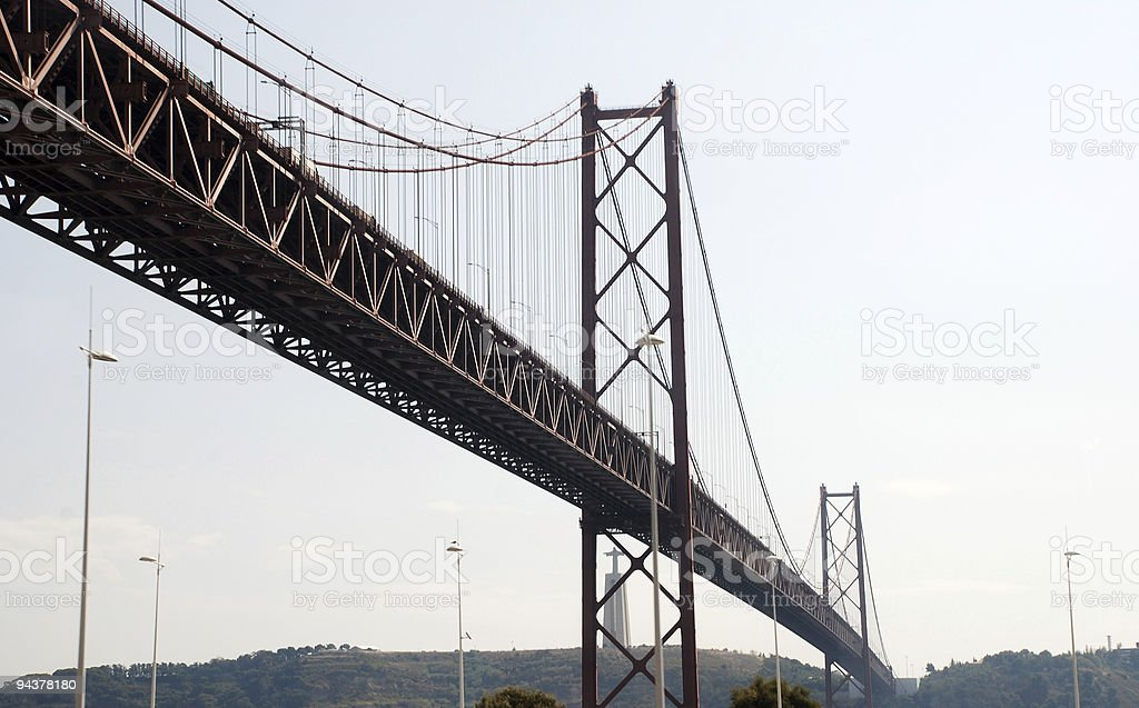 famouse brige '25th april' in Lisbon royalty-free stock photo