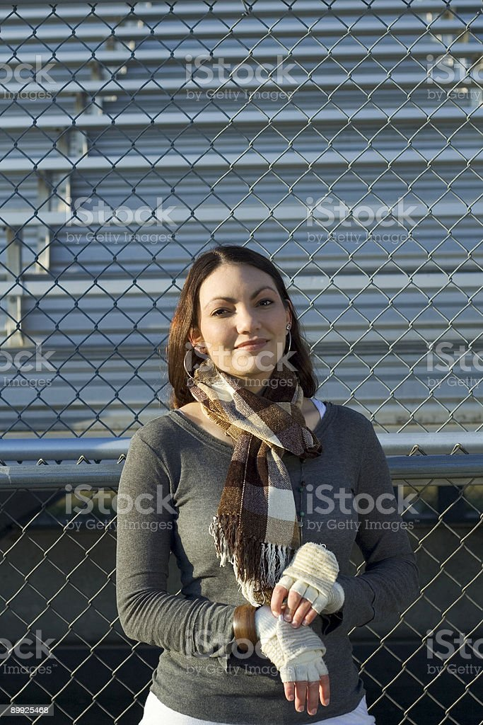 Fan at Game royalty-free stock photo