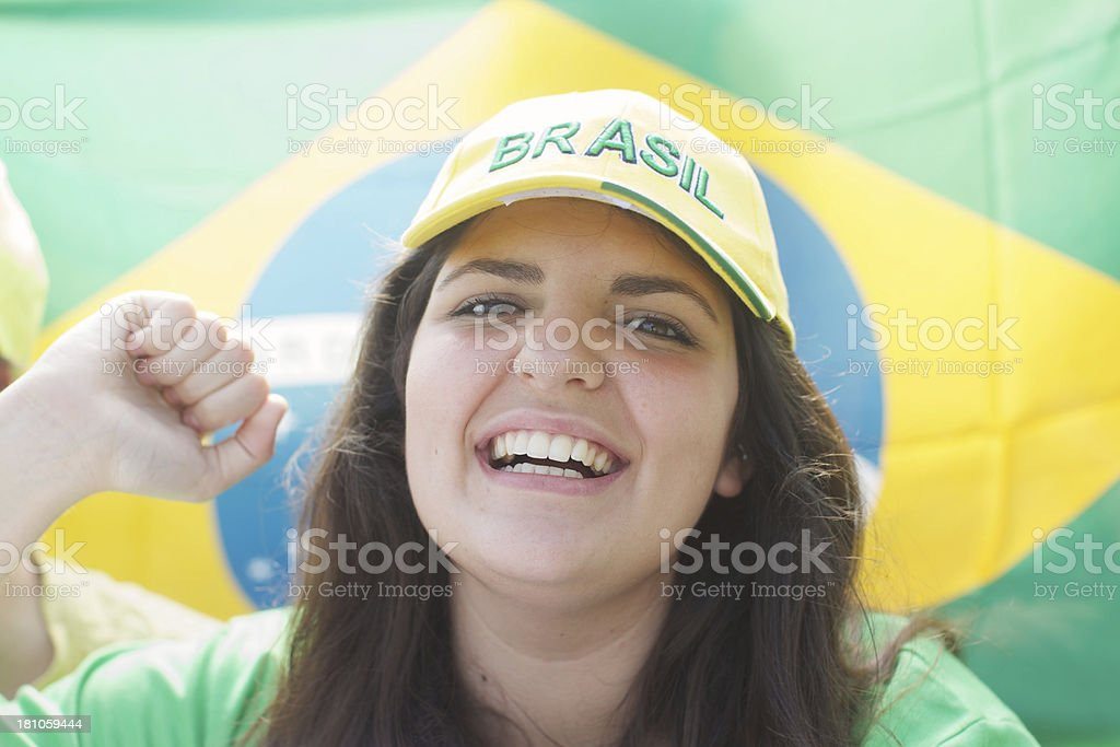 Fan cheering royalty-free stock photo