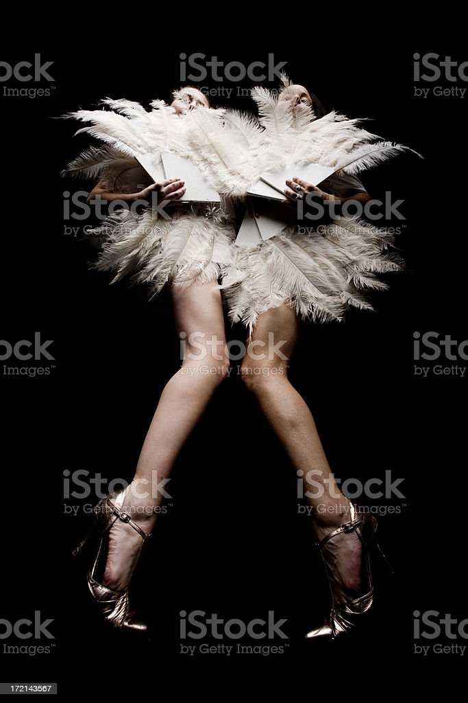 Fan Feather Dancers stock photo