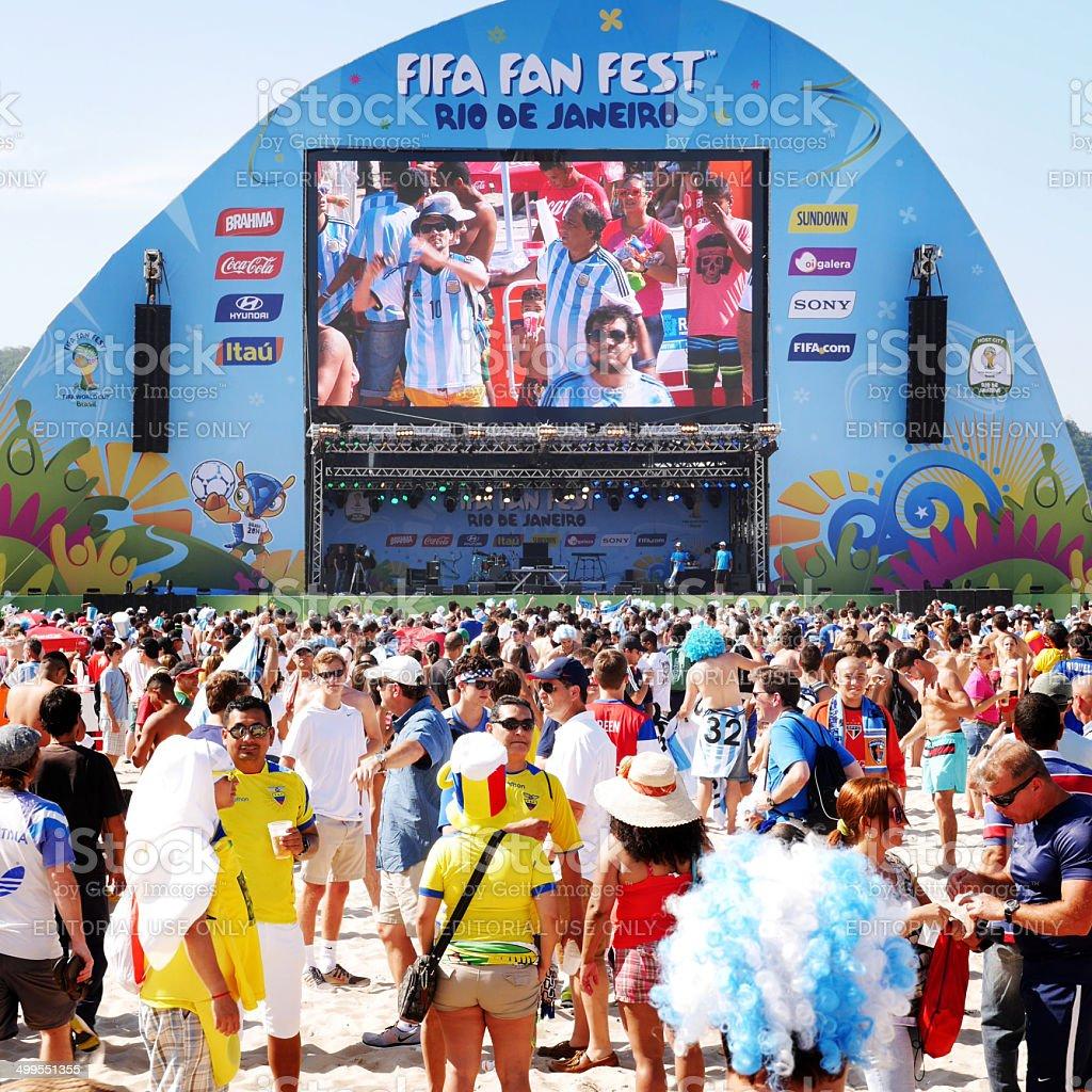 FIFA Fan Fest, Rio de Janeiro, Brazil stock photo