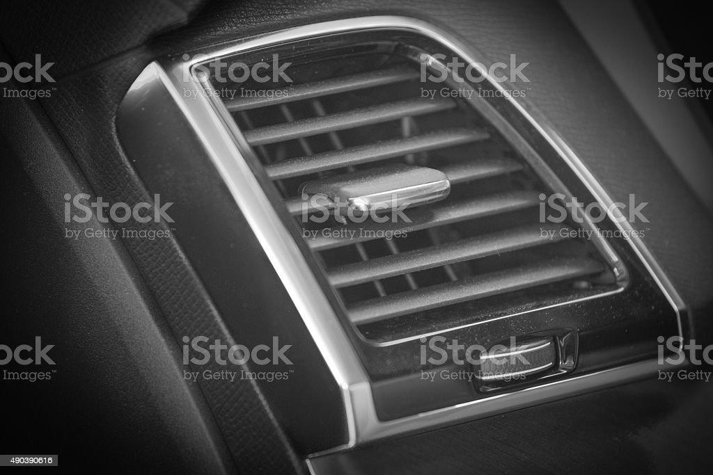 fan in new modern car stock photo