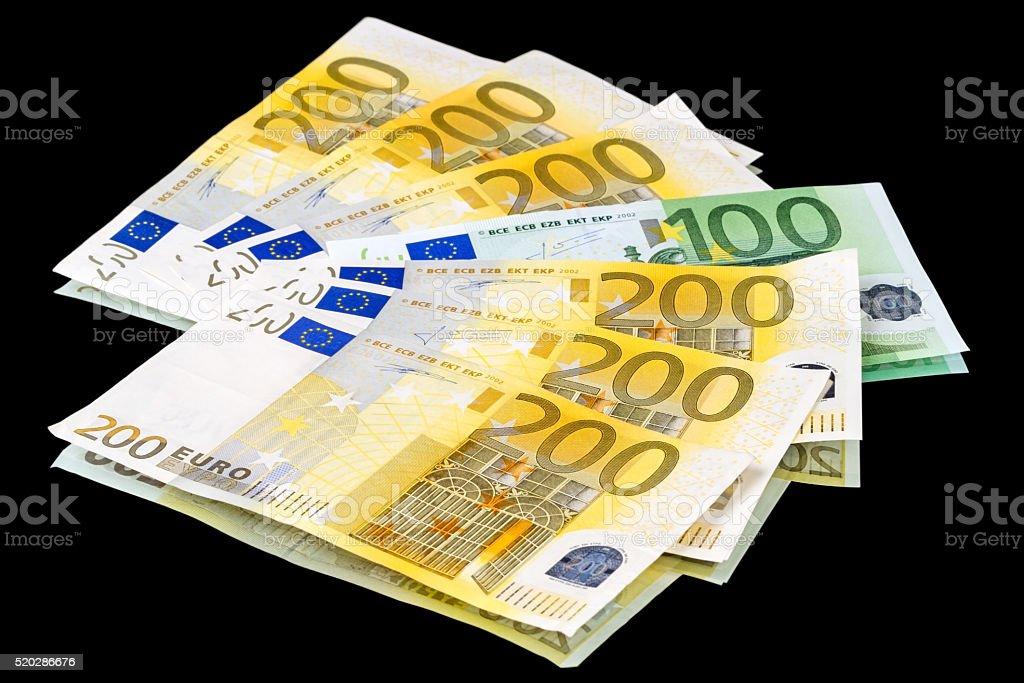 Fan of 1300 euros stock photo