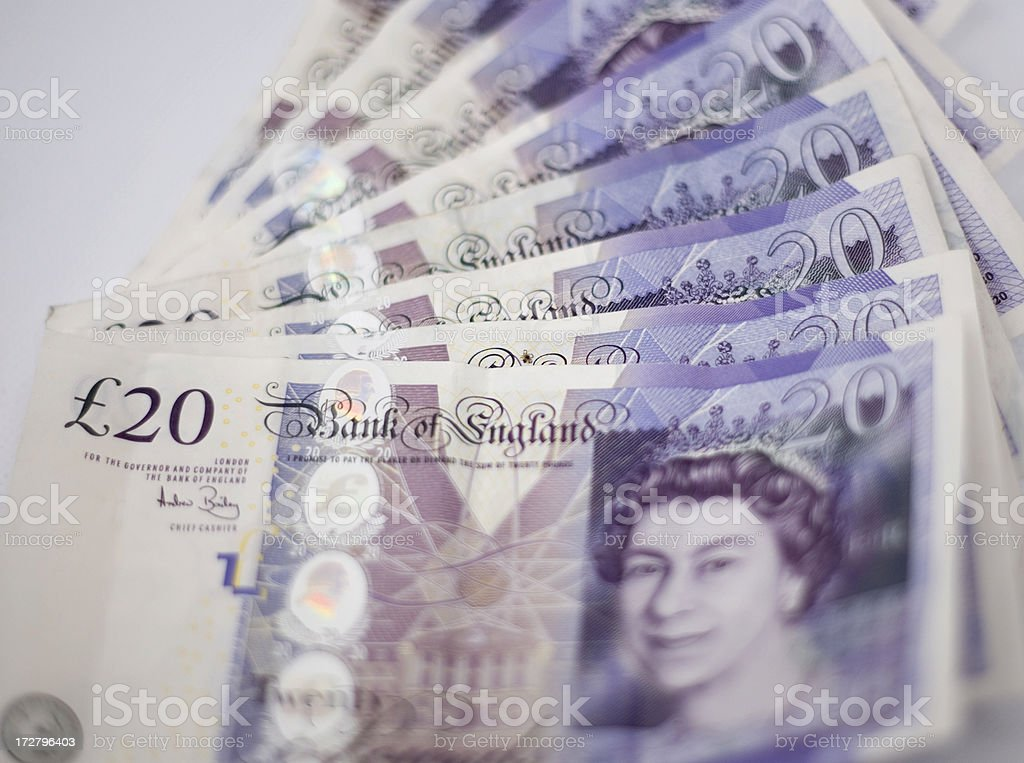 Fan of £20 Notes royalty-free stock photo