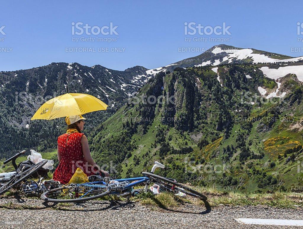 Fan of Le Tour de France royalty-free stock photo