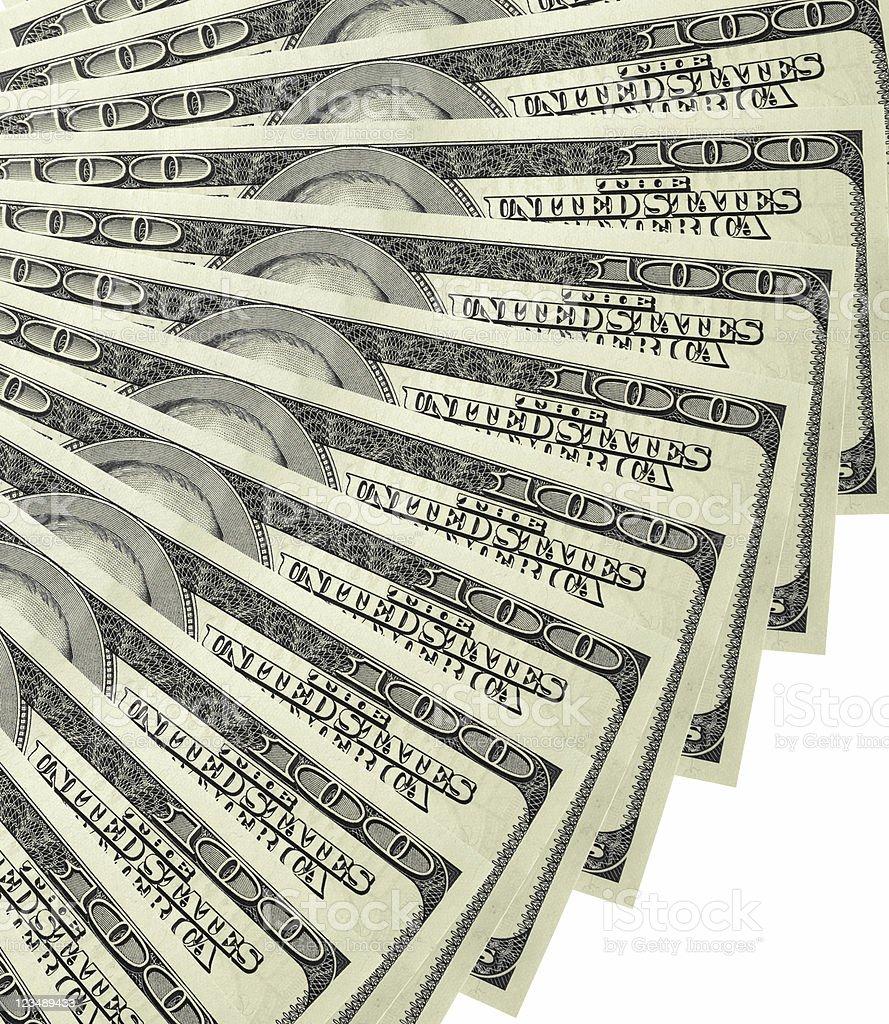 fan of money stock photo