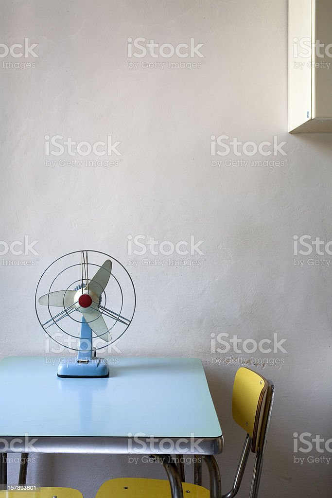Fan on the table royalty-free stock photo