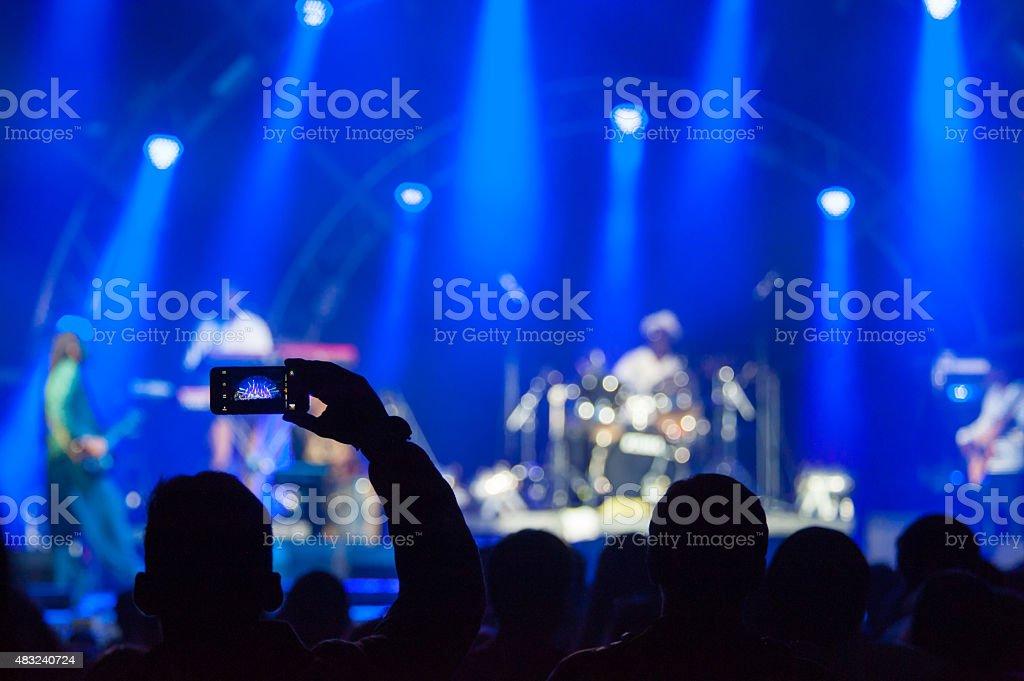 Fan photographs show stock photo