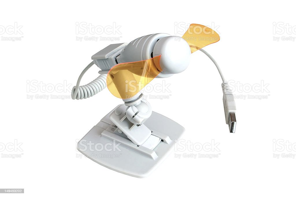 USB Fan (with Clipping Path) stock photo