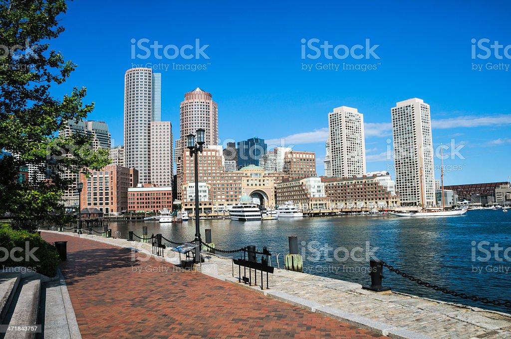 Fan Pier Harborwalk stock photo