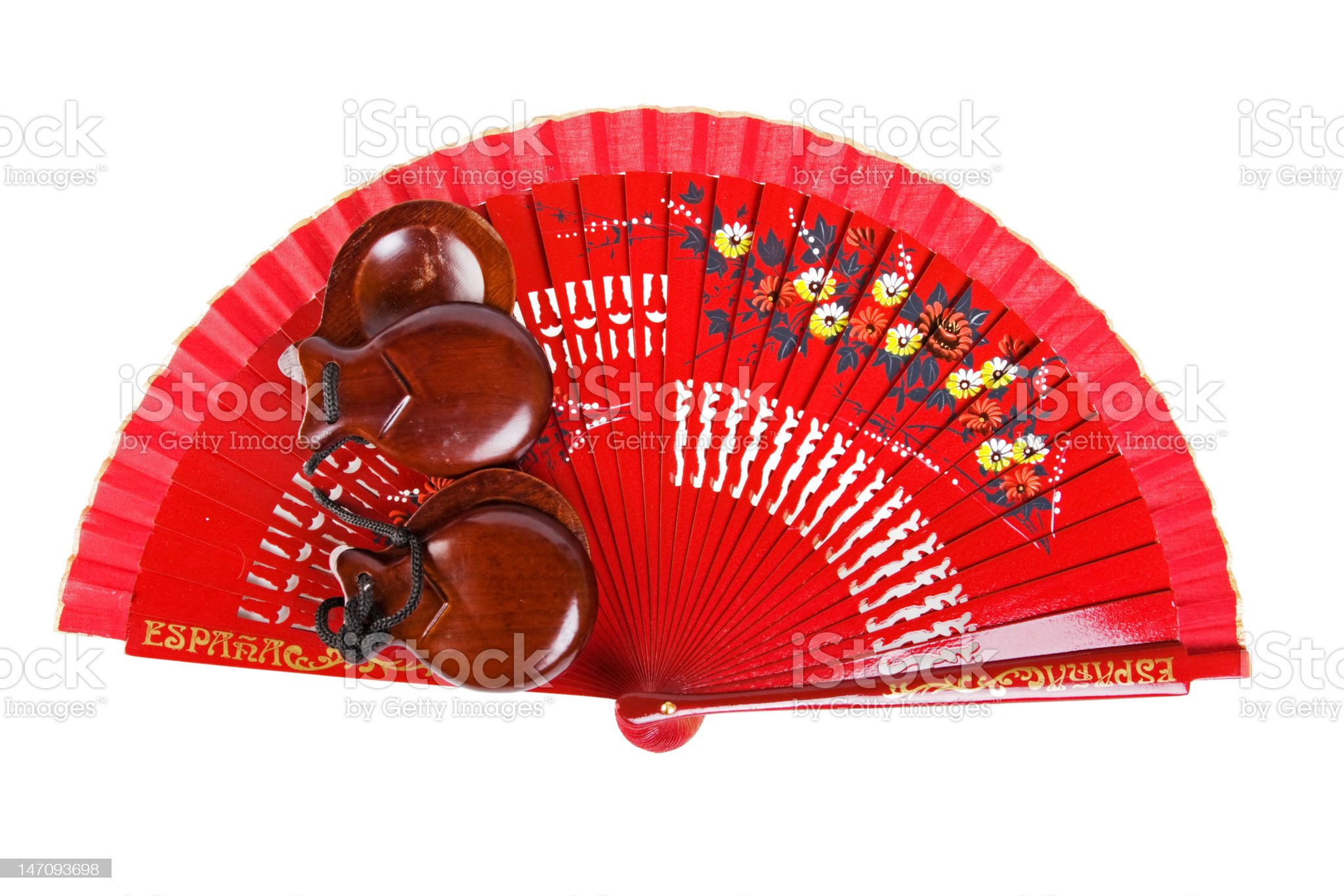 fan with castanets royalty-free stock photo