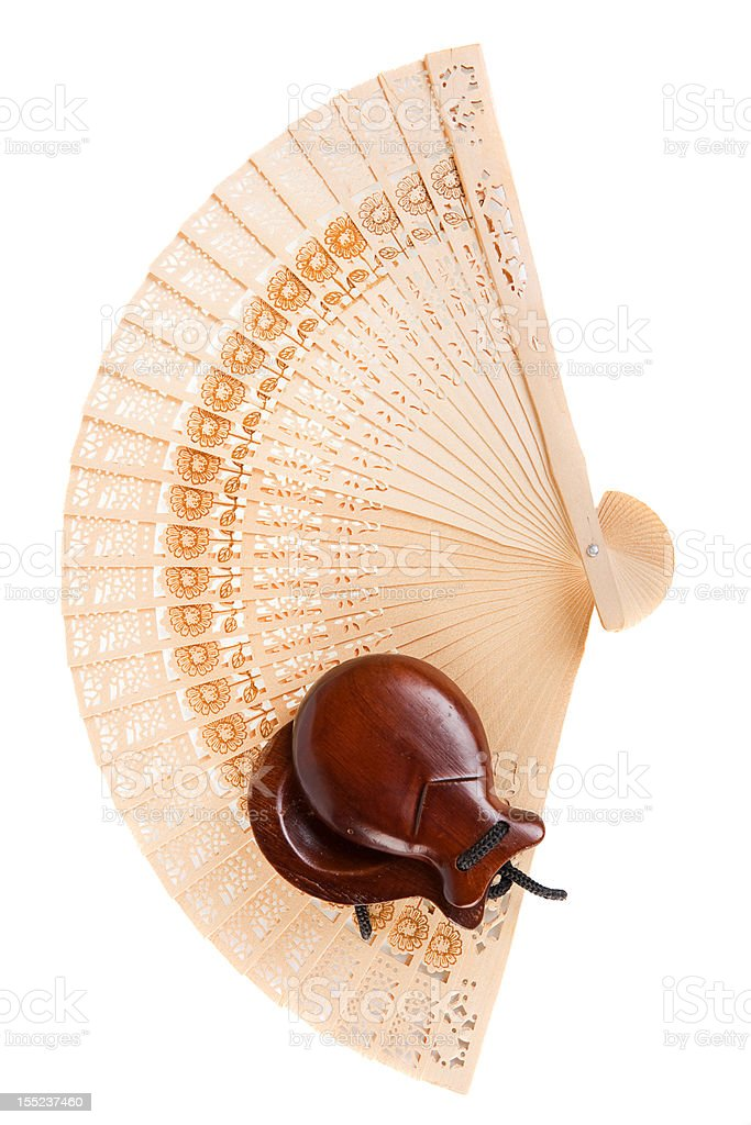 fan with castanets stock photo