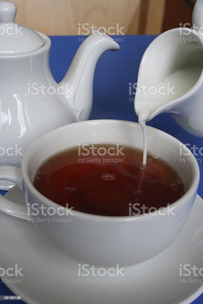 Fancy a Spot of Tea with Milk? stock photo