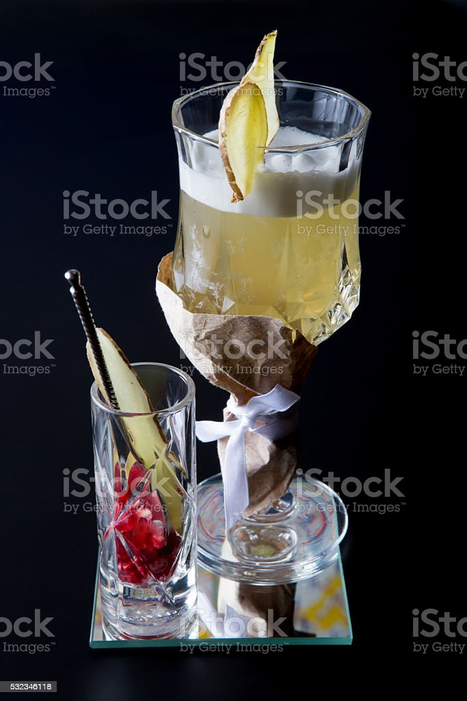 Fancy alcohol cocktail stock photo