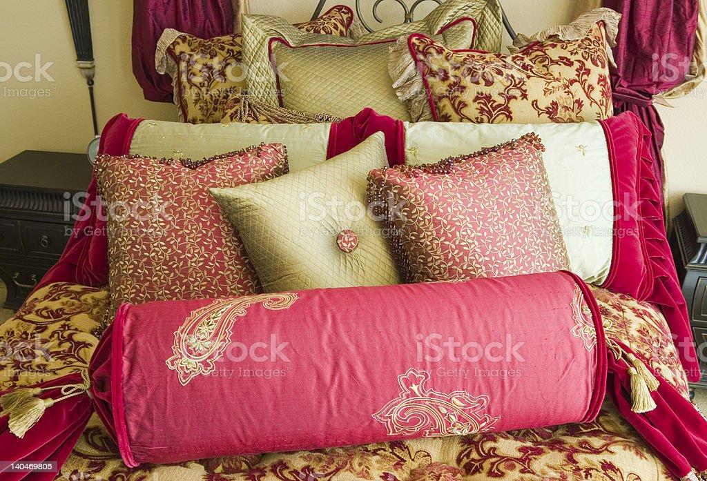 Fancy Bedding Set Horizontal stock photo