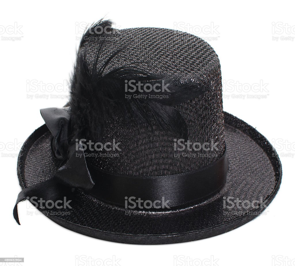 Fancy black hat stock photo