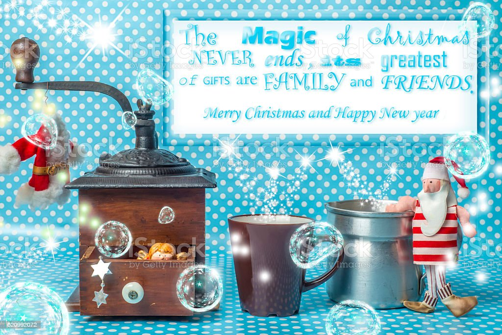 Fancy Christmas with message greeting stock photo