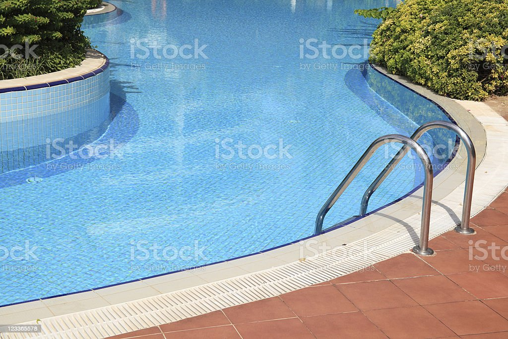 fancy clean pool royalty-free stock photo