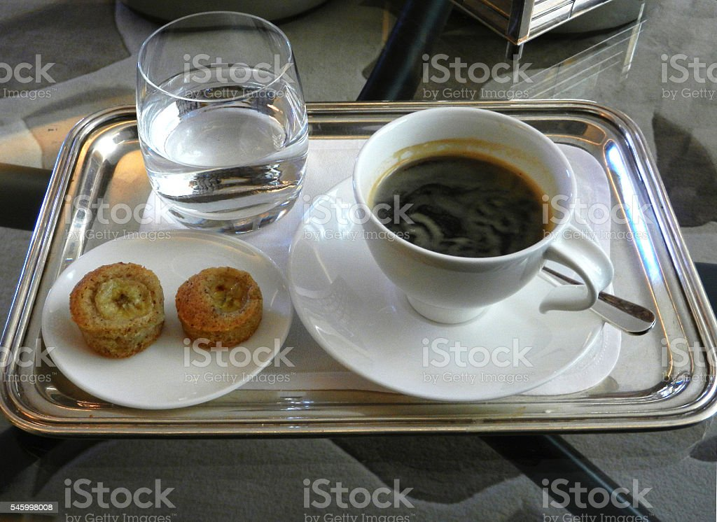 Fancy coffee serving stock photo