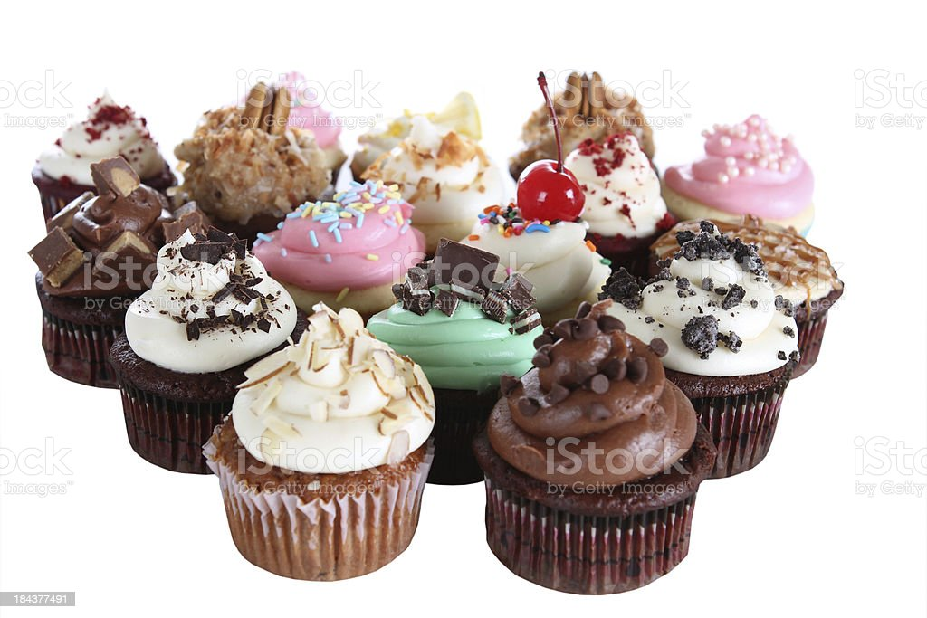 Fancy Cupcakes stock photo