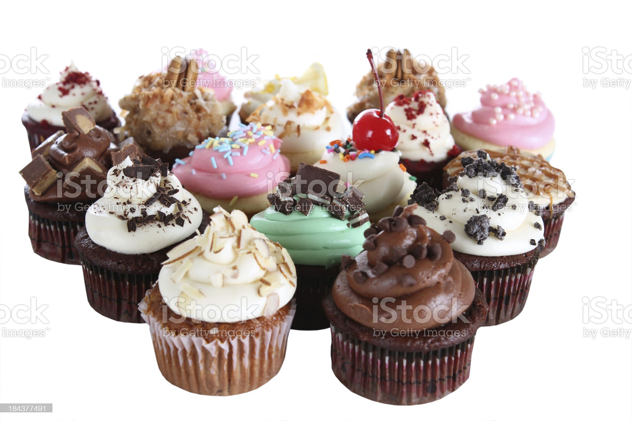 Fancy Cupcakes royalty-free stock photo